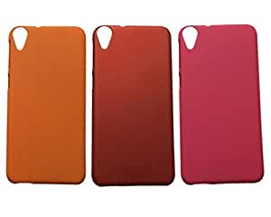 Winsome Deal Hard Back Cover Case for HTC Desire 820 (Pack Of 3)