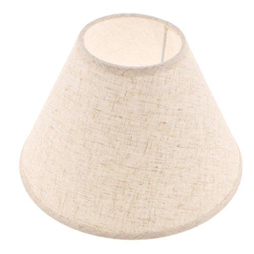 Lampenschirm E27 Lampenfassung Schirm für Stehleuchte Nachttischlampe Tischlampe Innenraum Beleuchtung Zubehör - Flachsfarben -