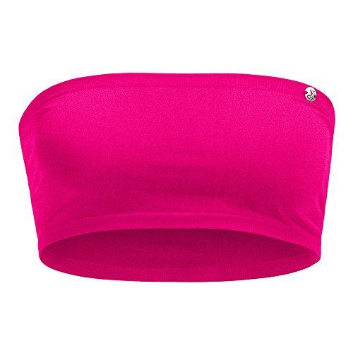Kidneykaren Damen Bandeau- Multitube Top Mini- Tube Fitness & Freizeit Pink Paradise, Größe:M