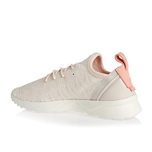 adidas Damen Zx Flux Adv Virtue Sock Sneakers Beige
