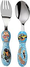 Kidzel Hot Wheels Stainless Steel Cutlery Set, Blue