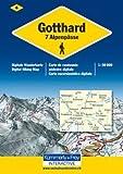 KuF Schweiz Digitale Wanderkarte 04 Gotthard -7 Alpenpässe 1 : 50 000: Interactive - Wanderkarte der Schweiz auf DVD