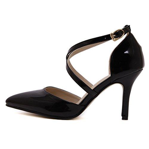 GS~LY Asakuchi Chaussures femmes a talons hauts croisés ceinture chaussures apricot