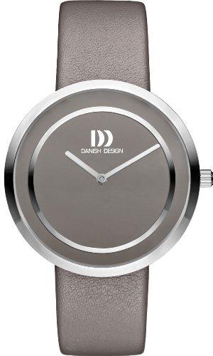 Danish Design Women's Quartz Watch with Grey Dial Analogue Display and Grey Leather Bracelet DZ120317