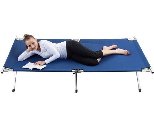 41cxv1rxltL - Skandika Camping Bed XXL Comfortable Camping Lounger 210 x 80cm