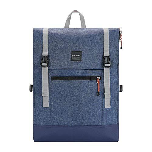 Pacsafe Slingsafe LX450, Anti-Diebstahl Rucksack, Daypack mit Sicherheitstechnologie, 15 Liter, Denim Blau