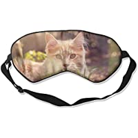 Eye Mask Eyeshade Brown Cat Grass Sleep Mask Blindfold Eyepatch Adjustable Head Strap preisvergleich bei billige-tabletten.eu
