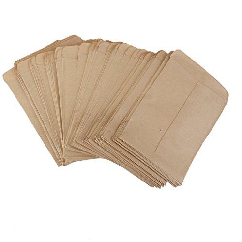 100pcs Vintage Kraftpapier Klebetaschen Hybridsamen Maisfarm Beutelsack