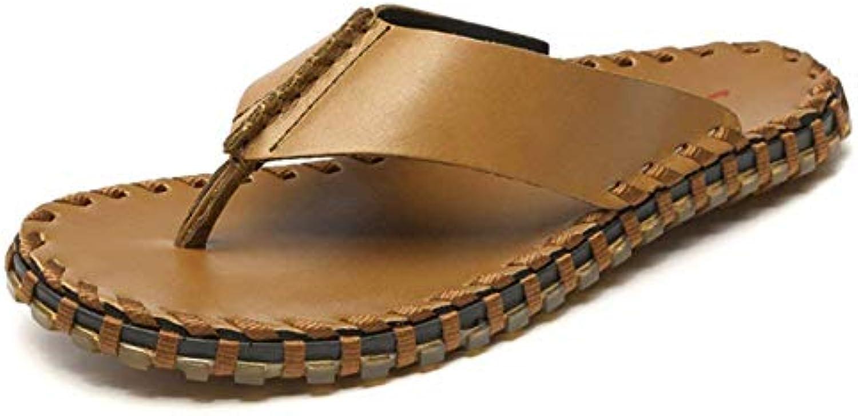 Oudan Infradito da Uomo. Sandali in Pelle Casual (Coloreee   Marronee, Dimensione   39) | Per Vincere Una Ammirazione Alto  | Scolaro/Ragazze Scarpa
