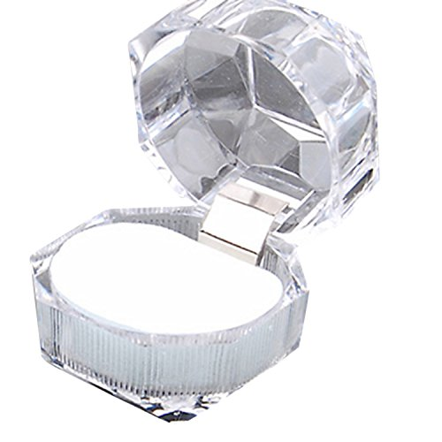 sukisuki 1x klar Acryl Ring Box Display Aufbewahrungsbox Fall Organizer Geschenk-Box, farblos, Einheitsgröße (Schmuck Box Organizer Billig)
