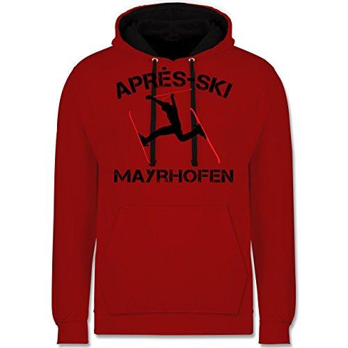Après Ski - Apres Ski Mayrhofen - Kontrast Hoodie Rot/Schwarz