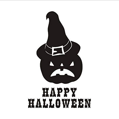 Happy Halloween Kürbis Zauberer Hut Wandaufkleber Für Kinderzimmer Abnehmbare Aufkleber Poster Home Halloween Dekoration Zubehör