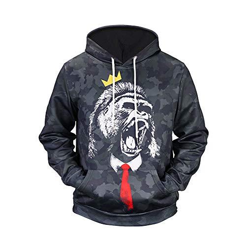Herren Bluse Jacke Dragon Ball Sun Wukong 3D-Druck Rundhalspullover Bunten Mantel Pullover Hoodie Muster Sweatshirt