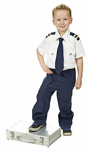 Kostüm Pilot für Jungen Gr. 104 - Tolles Kostüm für Buben zu Karneval und (Flugzeug Kostüm Kinder Piloten)
