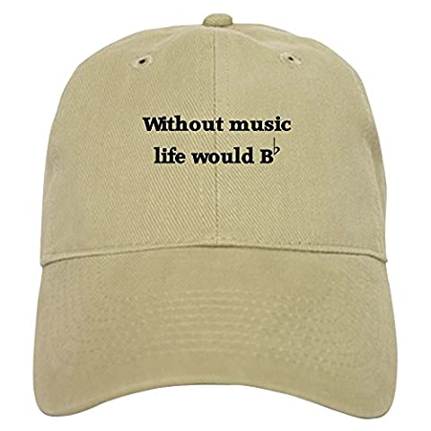 CafePress - Without Music Life Would Be F - Baseball Cap with Adjustable Closure, Unique Printed Baseball Hat