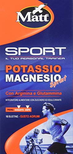Matt Sport - Potassio Magnesio Sprint con Arginina e Glutammina - Integratore Alimentare per...