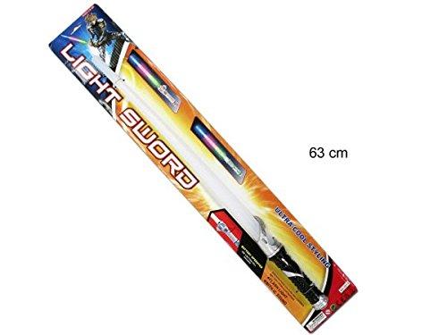 JUINSA Espada láser con luz y sonido, 63 cm, color blanco (9418)