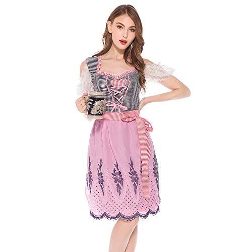 Girl Lucky Kostüm - LaLaLa Deutsches Dirndlkleid Für Damen, Tracht Für Bayerischen Oktoberfest-Karneval Halloween, Party-Cocktail-Girl-Kleid,M
