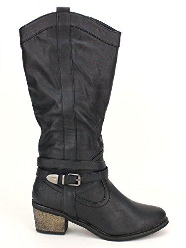 Cendriyon, Botte Noire CELIFA MODA Chaussures Femme Noir