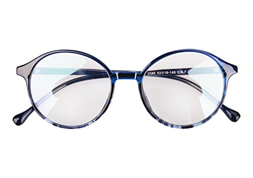 JINTN Unisex Nerdbrille Lesebrillen Vintage Sonnenbrille mit Volle Glasrahmen Streberbrille Nerdbrille Klassische Brille Dekogläser