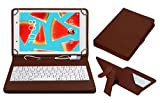#3: ACM USB Keyboard Case for Lenovo Tab4 8 Tablet Cover Stand with Free Micro USB OTG - Brown