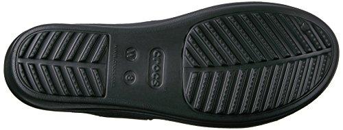 Crocs Sanrah Embellished Wedge Bksilmtlc, Sandales  Bout ouvert femme Noir (Black/Silver Metallic)