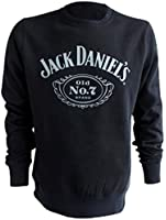 Coole-Fun-T-Shirt Men's Long-Sleeved Jumper with Jack Daniels Logo