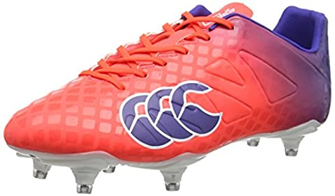 Canterbury Speed Club 6 Stud, Chaussures de Rugby Homme, Rouge