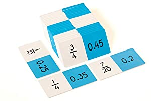 Learn Well T1220 Dominó de equivalencia de fracción-Decimal