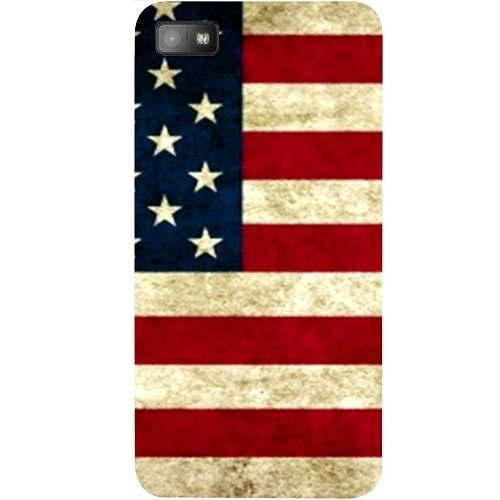 Casotec USA Flag Design Hard Back Case Cover for Blackberry Z10  available at amazon for Rs.149