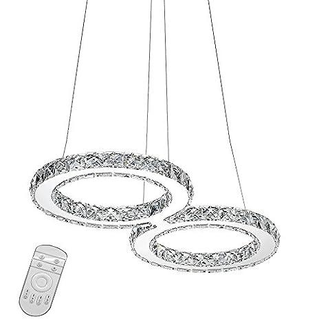 SAILUN® 32W LED Cristal Design Lampe suspendue, 8-Formulaire Pendentif lampe de plafond lumière lustre créatif Dimmable Lustre