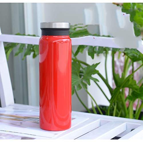 LGGLQW Edelstahl-Eisbecher im Freien tragbare Wasserflasche