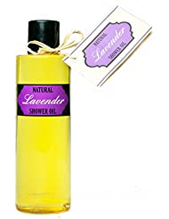 huile de douche; natural shower oil with lavender oil (200 ml) and no soap!