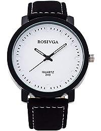 fenkoo Unisex grandes Elección Vintage Hombre Reloj Fácil Mujeres Reloj De Pulsera estudiantes ver Blanco blanco
