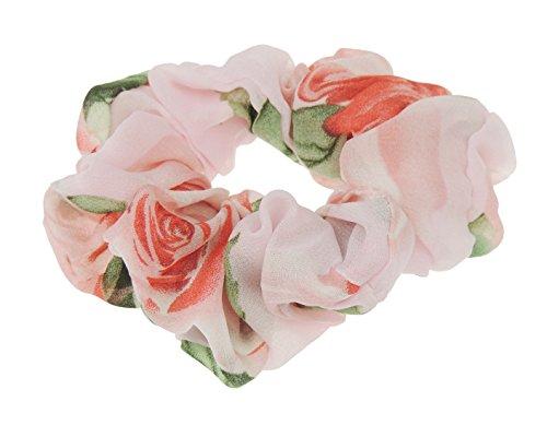 Damen Mädchen Chiffon Pastellfarben Blumen Haargummi Elastic
