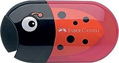 Idea Regalo - Faber-Castell 183526 Temperamatite, Rosso