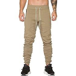 DEELIN Hommes Automne Hiver Couleur Pure Casual Sport Pantalons Pantalons De Jogging Slacks Casual Élastique Baggy Jogging Pantalon