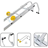 Adattatore tetto per scala in alluminio - adattatore con uncino e rotelle per il tetto