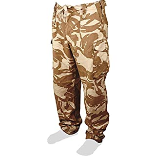 USED GRADE 1 British Army Issue Desert Camo Trousers (36