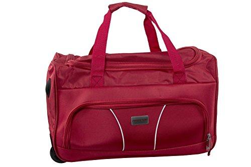 Borsa da palestra PIERRE CARDIN rossa borsone da viaggio con trolley M254