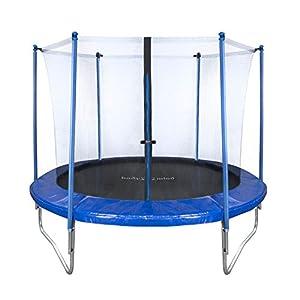 Body & Mind 250cm Outdoor Trampoline Garten-Trampolin Set; Sicherheits-Netz Randabdeckung