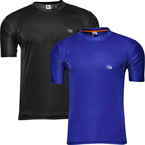 TSX Men's Dryfit T-shirt- Pack of 2  available at amazon for Rs.249
