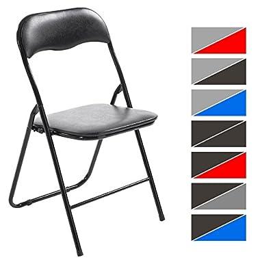 CLP Klappstuhl Küchenstuhl Felix, Metallgestell, Kunststoff-Sitz gepolstert grau/schwarz