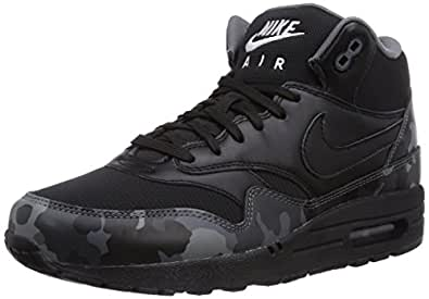 Nike Air Max 1 Mid Fb, Baskets mode homme, Noir (Black/Black/Cool Grey/Ivory 001), 45