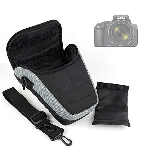DURAGADGET Housse étui de Protection Moyen en Nylon résistant à l'eau pour appareils Photos Nikon Coolpix P900 et P7800, D7200