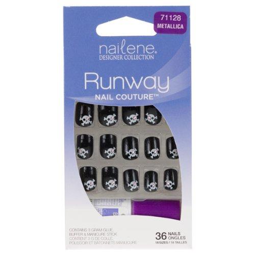 Nailene Designer Collection Runway Nail Couture False Nails - Metallica (71128)