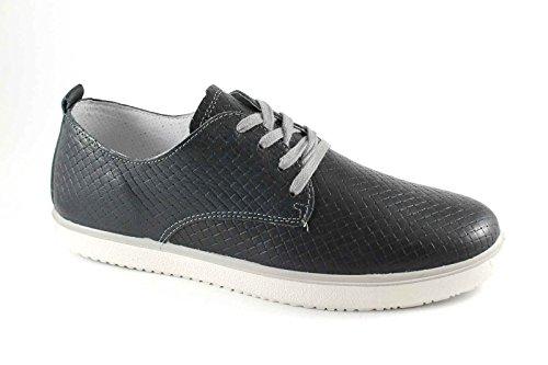IGI&CO 57210 blu scarpe uomo sneakers lacci pelle lucida elastico Blu