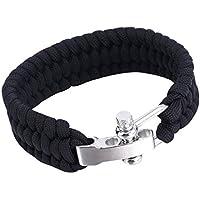 JullyeleDEgant Outdoor Camping Überleben Armband Weave Handmade 7-Stand Edelstahl Schäkel Schnalle Self-Rettung... preisvergleich bei billige-tabletten.eu