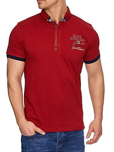 Tazzio Herren Polo-Shirt Polohemd Poloshirt T-1029 Bordo