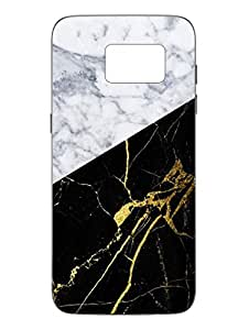 Samsung S7 Cover - Natural Stone Black and White - Designer Printed Hard Shell Case
